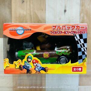 Nintendo 2008 Mario Kart Wii Pull Back Car Wildstar  & Fire Hot Lot Donkey Kong