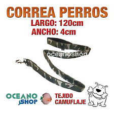 CORREA PERRO TEJIDO CAMUFLAJE MILITAR DE CALIDAD 120cm LARGO L58 3215