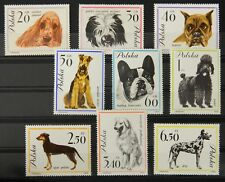 - Polen Poland 1963 Mi. Nr. 1374-1382 ** postfrisch MNH Hunde dogs