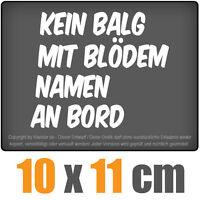 Kein Balg an Bord 11 x 10 cm JDM Decal Sticker Auto Car Weiß Scheibenaufkleber
