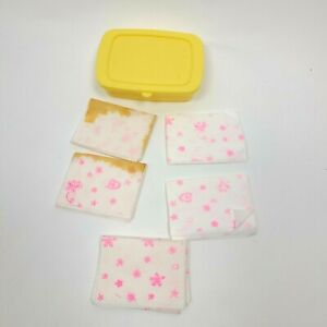 BABY ALIVE Doll 2006 Yellow Wipes Container with 5 Wipes
