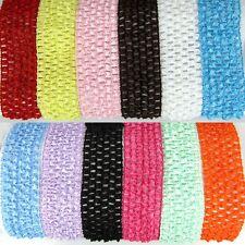 "5Pcs 1.5"" Elastic Crochet Headband Girl Kids Accessories Hair Bands 4.0cm Choose"