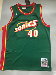 Shawn Kemp Seattle Supersonics Throwback Swingman Jersey Green Size S-XXL