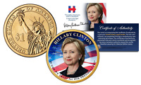 HILLARY CLINTON for 45th President Official Colorized 2016 Presidential $1 Coin