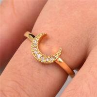 Elegant 18k Yellow Gold Filled Women's Wedding Rings White Sapphire Size6-10