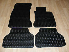 BMW 5 Series E60 Auto 2003-10 Fully Tailored 3mm RUBBER Car Mats Black.
