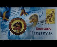 2013 Australia's Age of Dinosaurs Timimus Medallion Cover PNC