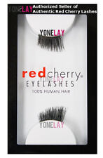 Lot 12 Pairs GENUINE RED CHERRY Accent DS01 Human Hair Lashes False Eyelashes