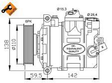 NRF Kompressor Klimaanlage EASY FIT 32146 für VW SKODA SEAT AUDI GOLF TIGUAN 7 5