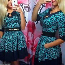 Geometric Short Sleeve Dresses Plus Size for Women