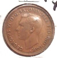 CIRCULATED, XF IN GRADE 1946 LARGE PENNY UK COIN (22615)