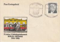 DDR FDC Ersttagsbrief 1985 75 Jahre S-Bahnbetriebswerk Berlin-Grünau Mi.2849