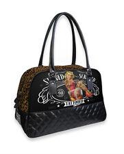 Liquor Brand Stewed Screwed Tattooed Punk Overnight Bowler Bag Purse B-CQ-026