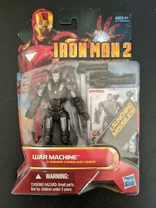 "Marvel 3.75"" WAR MACHINE Action Figure Hasbro Iron Man 2 #12 MCU"