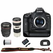 Canon EOS 1DX mark II DSLR Camera Body + EF 24-105mm F/4L IS + 70-200mm F/4L IS