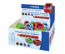 NEU: Lyra Groove Triple 1 Spitzer Anspitzer 16mm dicke Stifte Kunststoff