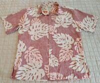 Cooke Street Hawaiian Aloha Shirt Mens M Reverse Print Honolulu