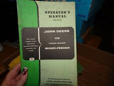 John Deere 110 Chuck Wagon Mixer Feeder Wagon Operator's Manual OM-C43-759
