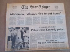 MOONMEN READY FOR HOME TED KENNEDY PROBE vintage NEWSPAPER INSERT 7/23 1969