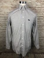 Faconnable Multi Color Striped Mens Button Down Long Sleeve Shirt Small