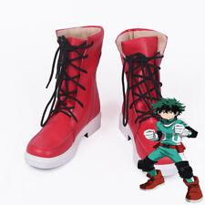 My Hero Academia  Midoriya Izuku Red Sneakers Cosplay Boots Shoes