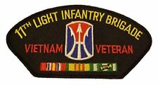 11TH LIGHT INFANTRY BRIGADE VIETNAM VETERAN with CREST and SERVICE RIBBONS PATCH