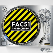 HACIENDA FAC51 FACTORY RECORDS DJ SLIPMATS / SLIP MATS X 2 - TECHNICS - STANTON