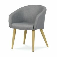 Occasional Chair -Grey Dining Chairs Velvet Sofa Chair Kitchen Cafe Furniture Au