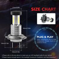 110W 26000LM H7 LED Car Headlight Lamp Bulb 360 Degree 6000K White Fog Light&DRL