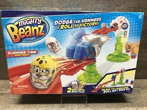 Brand New Mighty Beanz Slammer Time Race Track 2 Exclusive Beans Never Opened