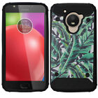 For Motorola Moto E4 IMPACT HYBRID Hard Protector Case Skin Phone Cover
