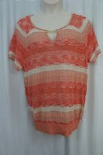 INC International Concepts Woman Top Sz 1X Loving Red Neo Romance Casual Knit
