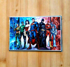 """Justice League Poster, NEW, 18"""" X 12"""" Sealed and Boarded"""