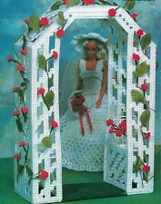 FASHION DOLL'S ROMANTIC ROSE ARBOR PLASTIC CANVAS PATTERN INSTRUCTIONS