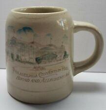 RARE Philadelphia History 1912 Saengerfest Stoneware Mug - 1st Convention Hall