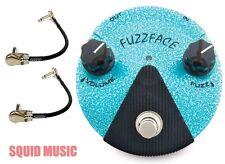 Dunlop FFM3 Jimi Hendrix Fuzz Face Mini Turquoise Guitar Pedal ( 2 MXR CABLES )