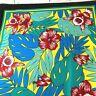 Vintage Cotton Blend Bandana Scarf Floral Wamcraft Made USA  RN 14193 NOS