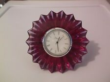 Baccarat Mathias Mille Nuits   Crystal Desk Table Clock Signed EUC Needs Battery