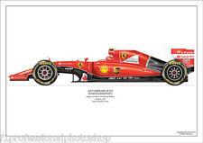 2015  Ferrari SF15T- Kimi Raikkonen  ltd ed. of 250 signed & numbered by artist