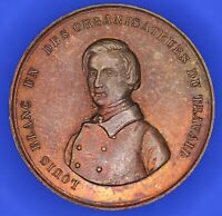 French France Medallion-Louis Blanc un des Organisateurs du travail 28mm [18179]