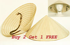 Vietnamese Conical Palm Bamboo Leaf Sun Rice HAT Farmer Viet Cong Disguise