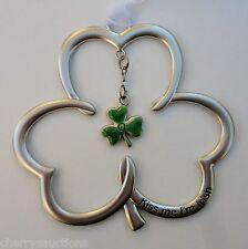 c J Kiss me I'm Irish Shamrock Ornament st patrick's day charm blessing Ganz