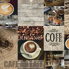 Bistro Coffee Beans Cafe Kitchen Feature Wallpaper 665101