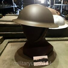 British Army BRODIE STEEL HELMET with Liner - Tommy Doughboy WW2 Repro