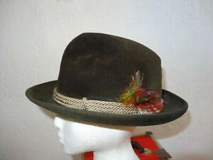 Borsalino Made in Italy Hat 6 1/2 Sportsman XX Brown Vintage Cambini