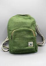 Natural and Earthy Green Hemp Backpack