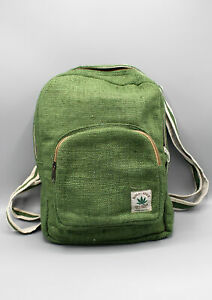 Natural and Earthy Green Hemp Backpack
