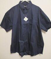 EDWARDS SERVICE MATES Navy Blue Short Sleeve Mens Button Uniform/Work Shirt 2XL