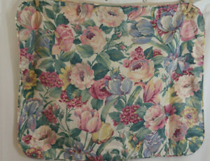 2 Vintage Pillow Shams Floral Shabby Chic Cottage Country Green Pink Blue USA