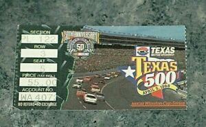 NASCAR 1998 Texas 500 ticket stub Mark Martin 24th win
